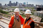 The Taylor, a luxury high-rise residential tower, is located at 3030 Carlisle St. in Uptown Dallas. (L-R) StreetLights CEO Doug Chesnut and CFO Tom Blakewell