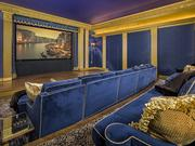 The screening room in the French-style mansion at 9806 Inwood Road in Dallas.