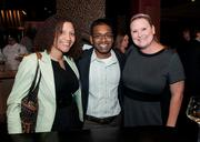 Kafi and Eknauth Persaud of Ayoka pose with Carrie Layne of BestOf Inc. and BestBuzz.Bz