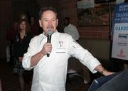 Chef Stephen Pyles talks to the crowd.