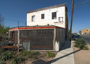 Bolsa, a popular restaurant in North Oak Cliff, is housed in what used to be a garage. It is one of the many building conversions near the Bishop Arts District.