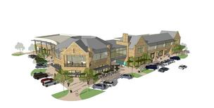 A rendering of the next phase of Castle Hills Village Shops expansion