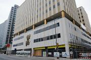 The Continental Building in downtown Dallas is a 1951-era structure with interesting artistic touches.