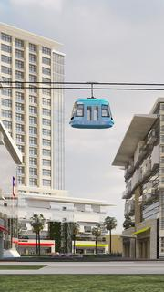 One of the transportation methods showcased in the Dallas Midtown redevelopment plans.