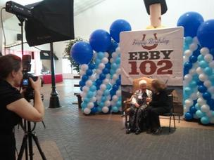 Ebby Halliday spent two hours taking photos with her employees who attended her birthday party at Southfork Ranch in Parker on Tuesday.
