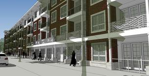 A rendering of the Behringer Harvard's apartment community that has begun construction off Fairmount Avenue