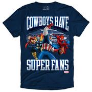 The Dallas Cowboys and Marvel Entertainment have signed a T-shirt marketing agreement.