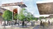 The Irving Music Factory will feature more than 50,000 square feet of open plaza space.