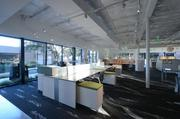 Work spaces at Allsteel's new office in the Dallas Design District