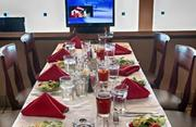 Lone Star Park will have televisions at tables in the dining terrace so attendees won't miss the action.