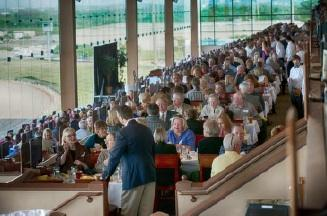 A rendering of the new dining terrace at Lone Star Park.