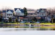 A view of the luxury lakeside community.