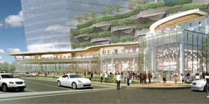 Rendering of Crescent's Uptown project at McKinney Avenue and Olive Street