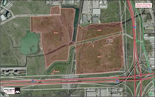 The 225-acre tract sits at the northwest corner of LBJ expressway and I-35E