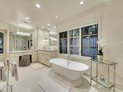 One of the bathrooms inside the Dallas home.