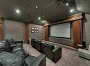 The home that hit the small screen has its own big screen movie theater.