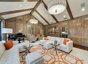 The great room inside the Dallas home.