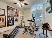 The Dallas home has a fitness center.