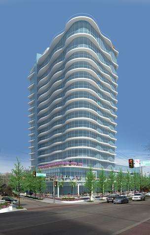 The 18- to 20-story residential and retail office building is planned for the northeast corner of McKinney Avenue and Routh Street in Uptown Dallas.