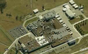 An aerial view of the former Sara Lee bakery plant in Paris, Texas.