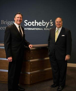 Left to right, Steve Sandborg, vice president of sales and marketing for Museum Tower, and Robbie Briggs, CEO and president of Briggs Freeman Sotheby's International Realty.