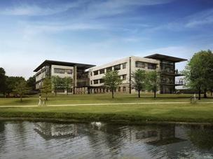 A rendering of Tyler Technologies new corporate campus in Plano.