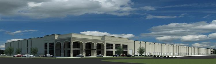 A rendering of the distribution center in Lewisville. IDI is developing the property as part of a joint venture and plans to market it to tenants.