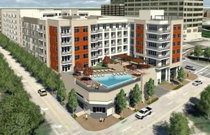 Rendering of the Victory Park luxury apartment project