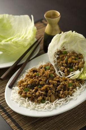 Lettuce wraps at Mama Fu's.