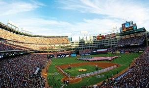 Today's season opener at the Rangers Ballpark in Arlington is a sellout.