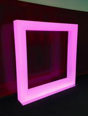 The LED squares were designed to change color based on the month.