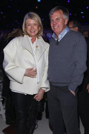Martha Stewart with J.C. Penney CEO Ron Johnson.