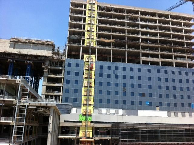 Workers at the construction site for the new Parkland Hospital will be honored on Friday during National Tradesmen Day.