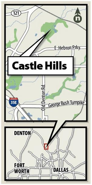 Castle Hills is located in an affluent area of Lewisville and was a desirable location for the joint venture to develop the apartment project, officials said.
