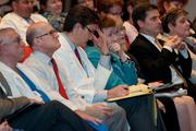 Parkland Memorial Hospital leadership sits in the front row.