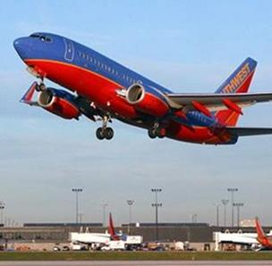 Southwest Airlines launched its direct service from Dayton International Airport on Sunday.