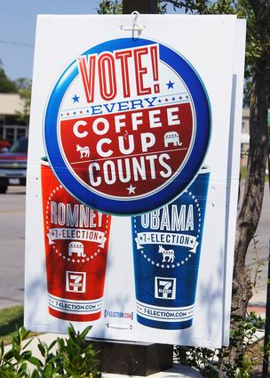Venti vote: 7-Eleven uses the backdrop of the presidential election to drive brand awareness.