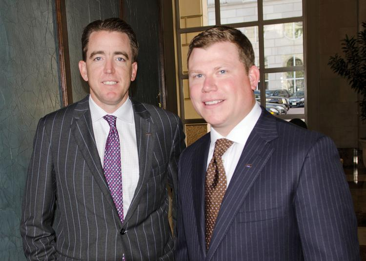 UMB Bank CEO Mariner Kemper, left, was in Dallas this week, where the Kansas City-based company has appointed Zachary Fee as president of its newly established Texas region.