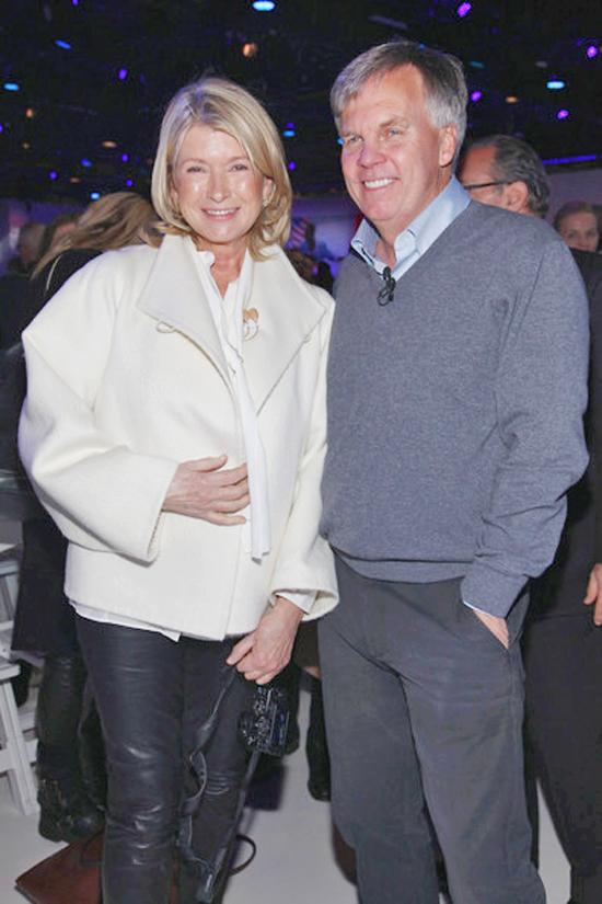 Business partner: Martha Stewart steps out with brand suitor Ron Johnson, J.C. Penney CEO.