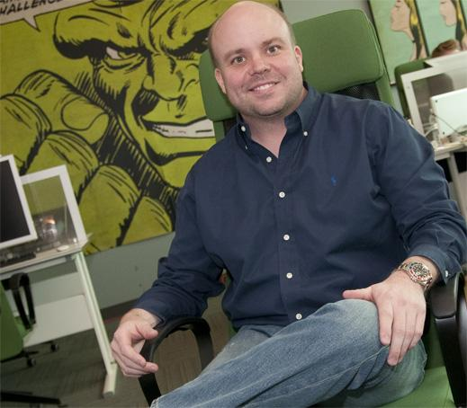 The Hulk: ShopSavvy CEO Alexander Muse, in the company's offices, secured $7 million in funding in November. The investment was led by Facebook co-founder Eduardo Saverin.