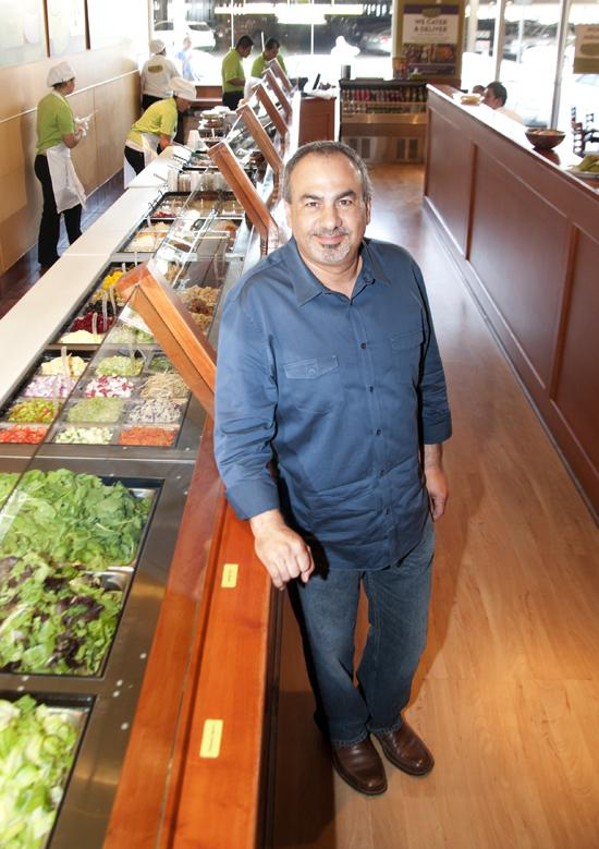 Co-founder Berge Simonian at the Salata in Preston Center.