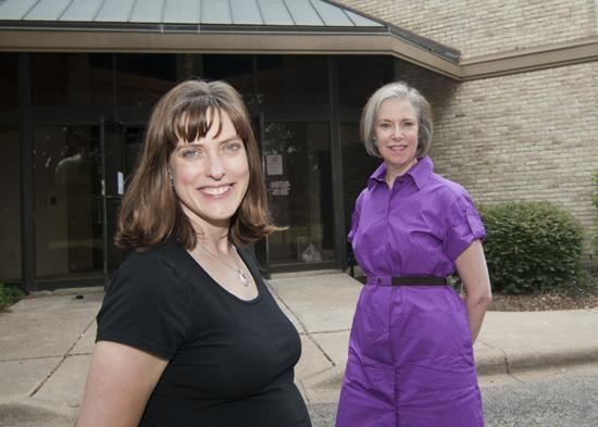 A new school: Catherine Wallace, owner of Spanish House, at left, and Eliza Solender, president of Solender/Hall Inc.