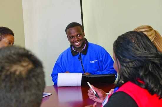 JaVonte Starling, a senior at Skyline High School in Dallas, has been an intern at Texas Health Partners since 2011. He wants to study neuroscience at UT-Austin.
