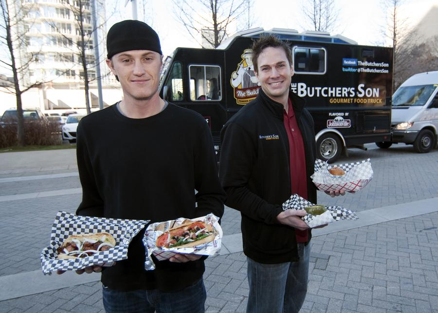 "DRIVEN OWNERS: Jon Wagner and Dain Pool, co-founders of Georgia-based Two Trucks LLC, launched The Butcher's Son in October. Coming to the Dallas market specifically to open a food truck was a deliberate decision Two Trucks made: ""If we wanted to be a leader in the industry and we went to L.A., we'd be just another gourmet food truck,"" Pool said. ""In Dallas, there was an opportunity."""
