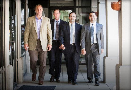In charge: From left, Chad Hennings, Kyle Jacobs, John Pope and Alexis Martinez have struck out on their own from Stream Realty Partners, creating Dallas-based Rubicon Representation LLC.