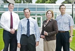 The denbury team: From left: John Brownlee, Jeff Ellerman, Whitney Shelley and Phil Rykhoek