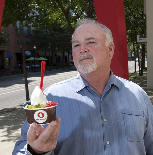 Sweet tart: 'We have to cut through the competitive clutter that is going on,' says Red Mango CEO Barry M. Barron Sr.