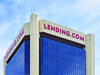 Coming down What: Lending.com gives up half of its space and its signage. When: Signs will come down beginning July 18.