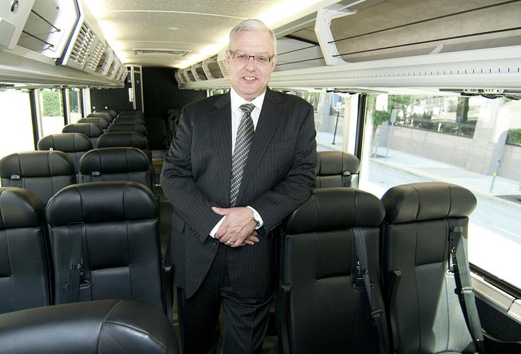 Dave Leach, president and CEO of Greyhound