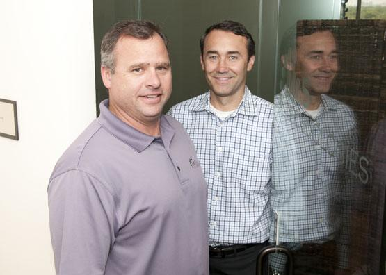 Keeping your data safe: 'Don't let the fear of making a mistake stop you,' says Mark Miller, at right, with Sean Stenovitch. The duo started network security company M&S Technologies in 2004.